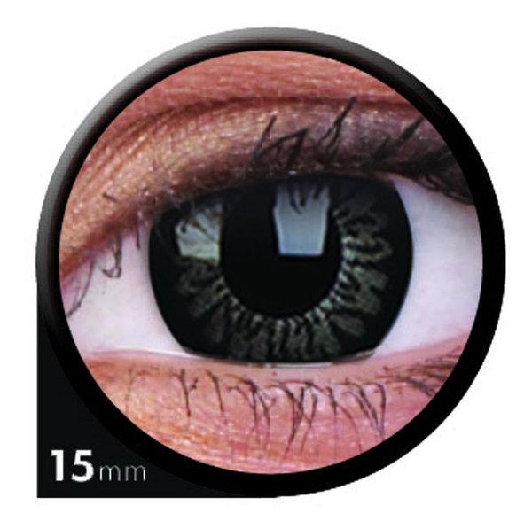 ColourVue Big Eyes - Awesome black (2 šošovky trojmesačné) - dioptrické - exp.08/2020