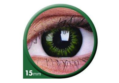 ColourVue Big Eyes - Party Green (2 šošovky trojmesačné) - dioptrické