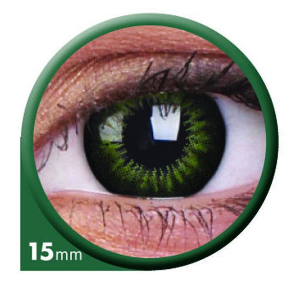 ColourVue Big Eyes - Party Green (2 šošovky trojmesačné) - nedioptrické