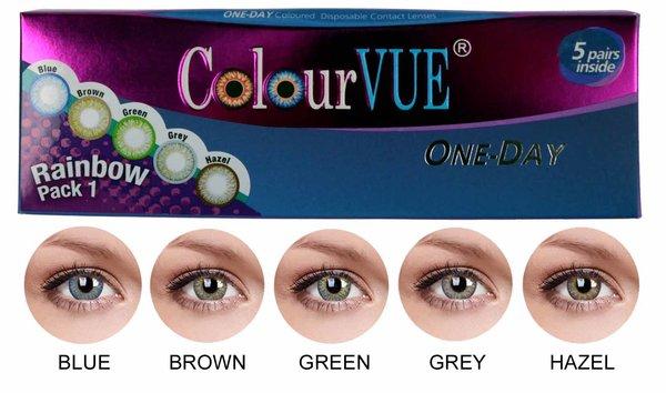 ColourVue Trublends One-Day Rainbow Pack1 - (5 párov farebných šošoviek) - nedioptrické
