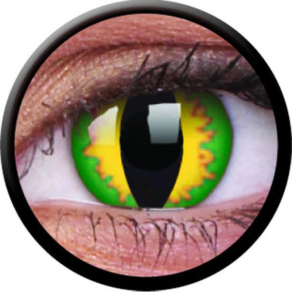 ColourVue Crazy šošovky - Green Dragon (2 ks ročné) - nedioptrické - exp.02/2021