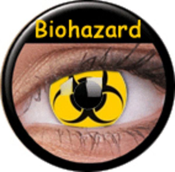 ColourVue Crazy šošovky - Bio Hazard (2 ks ročné) - nedioptrické