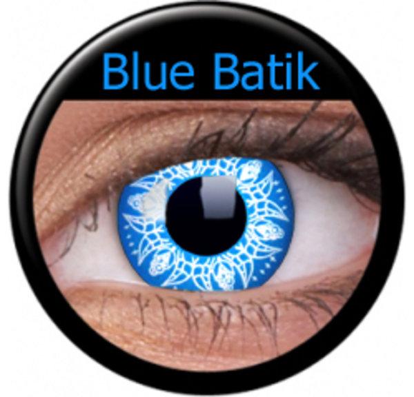 ColourVue Crazy šošovky - Blue Batik (2 ks ročné) - nedioptrické