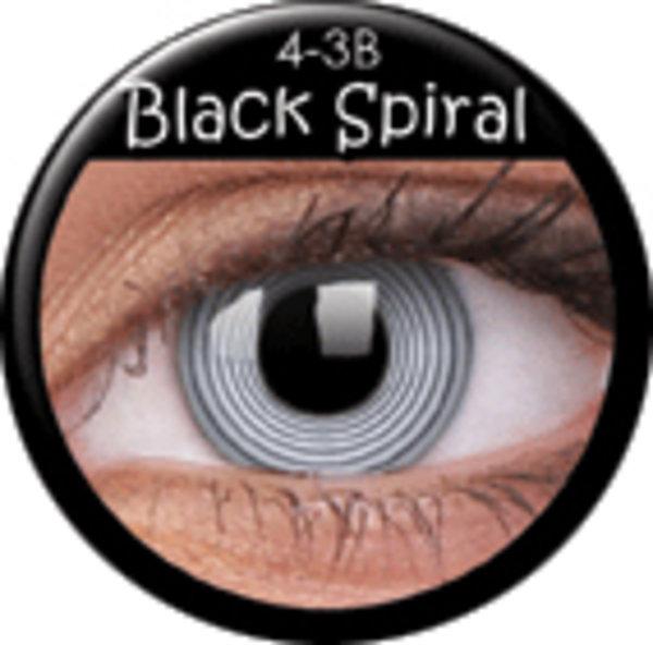 ColourVue Crazy šošovky - Black Spiral (2 ks ročné) - nedioptrické