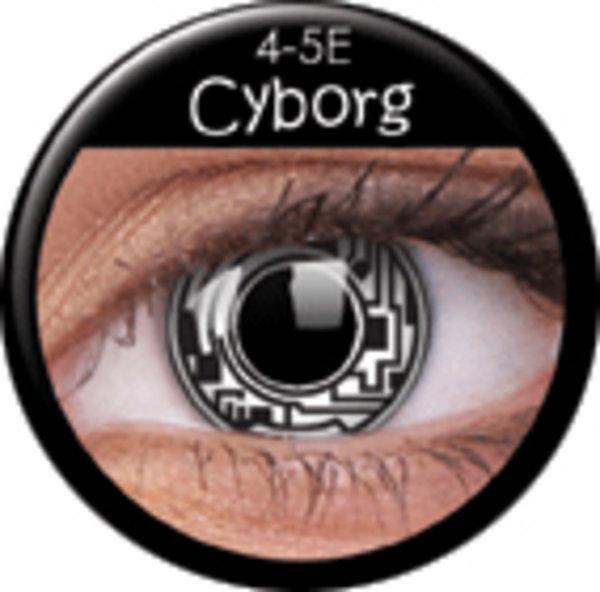 ColourVue Crazy šošovky - Cyborg (2 ks ročné) - nedioptrické