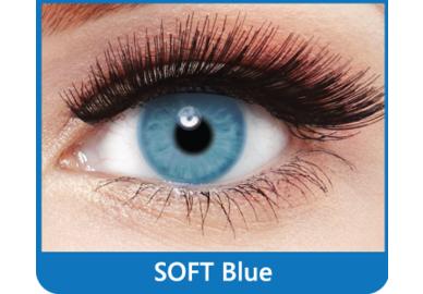 SoftColours - Blue (2 mesačné šošovky) - nedioptrické