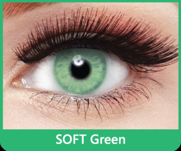 SoftColours - Green (2 mesačné šošovky) - nedioptrické - poškodený obal