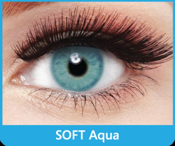 SoftColours - Aqua (2 mesačné šošovky) - nedioptrické - poškodený obal