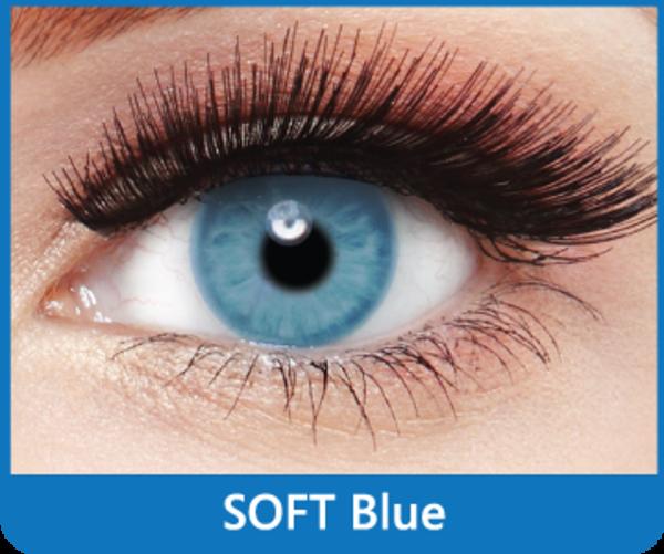 SoftColours - Blue (2 mesačné šošovky) - nedioptrické - poškodený obal