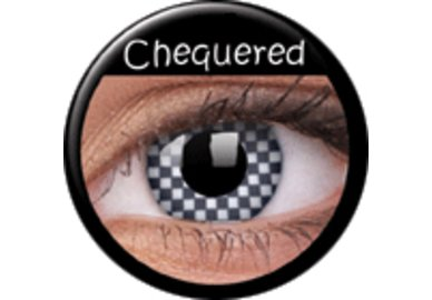 ColourVue Crazy šošovky - Chequered (2 ks ročné) - nedioptrické - exp.02/21