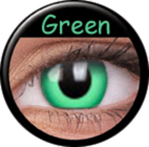 Phantasee Crazy šošovky - Green (2 ks ročné) - nedioptrické