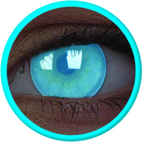 ColourVue Crazy šošovky UV svietiace -  Electric Blue (2 ks ročné) - nedioptrické - 02/22