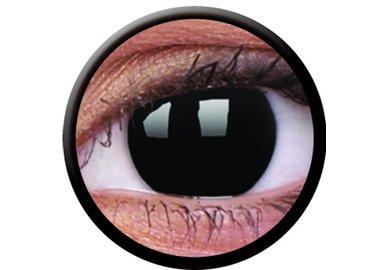 ColourVue Crazy šošovky - Blackout (2 ks jednodenné) - nedioptrické - Poškodený obal