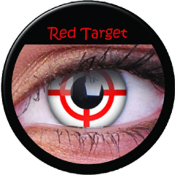 ColourVue Crazy šošovky - Red Target (2 ks ročné) - nedioptrické
