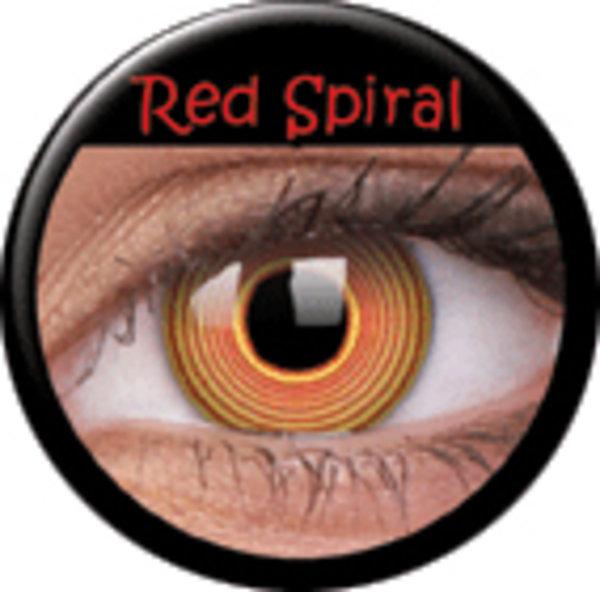 ColourVue Crazy šošovky - Red Spiral (2 ks ročné) - nedioptrické