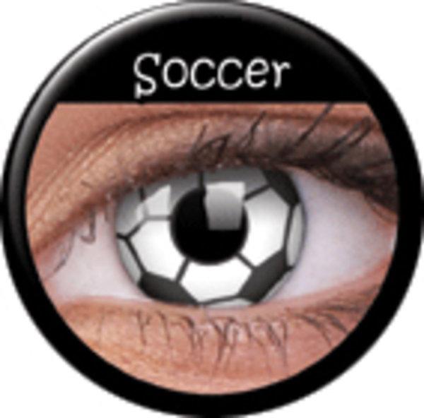 ColourVue Crazy šošovky - Soccer (2 ks ročné) - nedioptrické