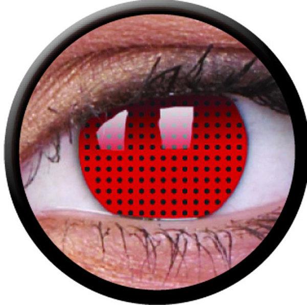 ColourVue Crazy šošovky - Red Screen (2 ks ročné) - nedioptrické - exp.02/22