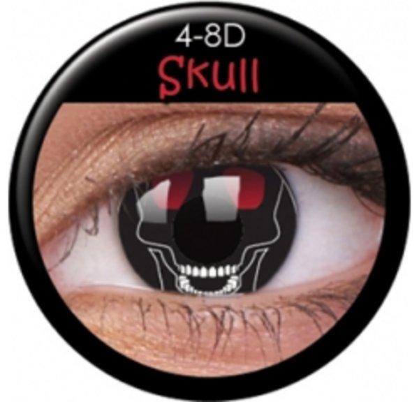 ColourVue Crazy šošovky - Skull ( 2 ks ročné) - nedioptrické