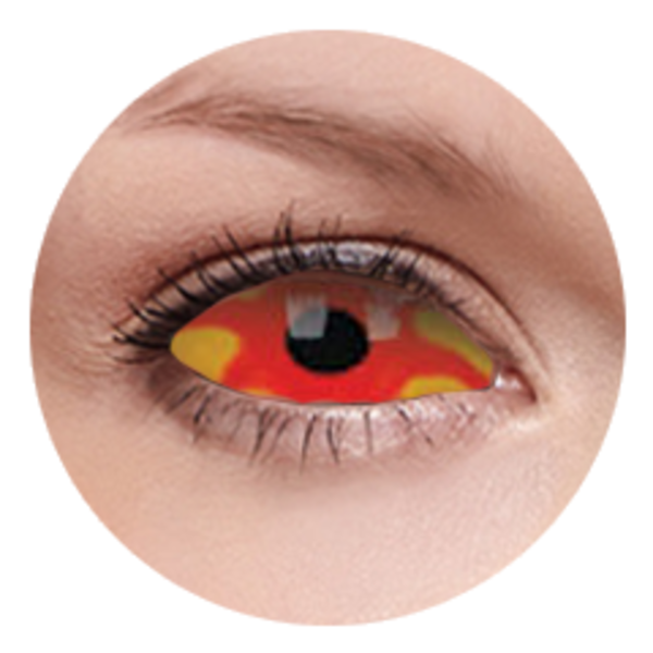 ColourVue Crazy šošovky Sklerálne - Kancer (2 ks polročné) - nedioptrické