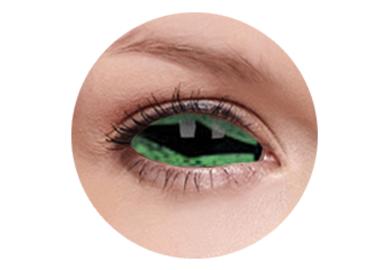 ColourVue Crazy šošovky Sklerálne - Reptillia (2 ks polročné) - nedioptrické