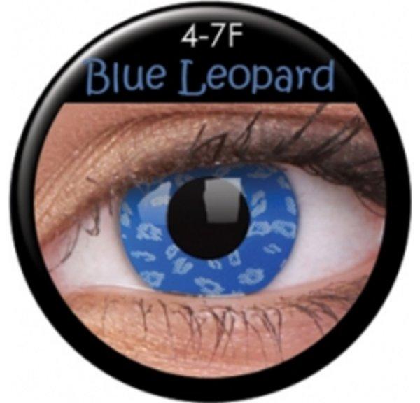 ColourVue Crazy šošovky - Blue Leopard (2 ks trojmesačné) - nedioptrické - exp.11/2016