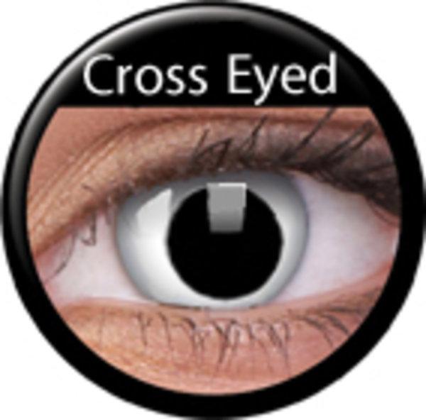 ColourVue Crazy šošovky - Cross Eyed (2 ks trojmesačné) - nedioptrické - výpredaj