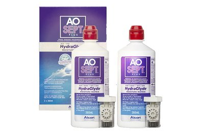 AOSEPT Plus HydraGlyde 2x360 ml s púzdry