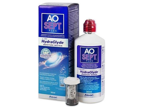 AOSEPT Plus HydraGlyde 360 ml s púzdrom - poškodený obal