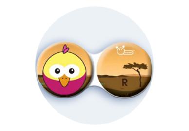 Antibakteriálne puzdro klasické - Afrika - Ružový vták