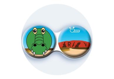 Antibakteriálne puzdro klasické Austrália - Krokodíl