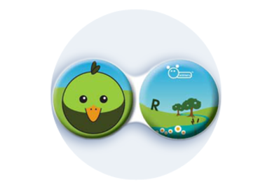 Antibakteriálne puzdro klasické - Farma - Vták zelený