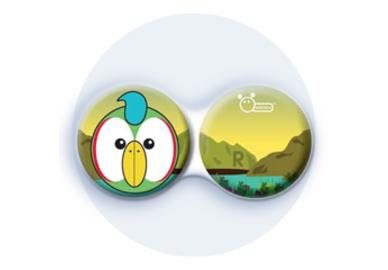 Antibakteriálne puzdro klasické - ZOO - Papagáj zelený