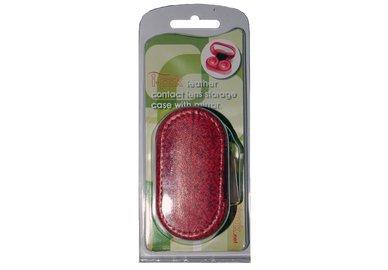Kožené púzdro s motívom v obale - Červené
