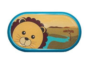 Ozdobné púzdro so zrkadielkom Afrika - Lev