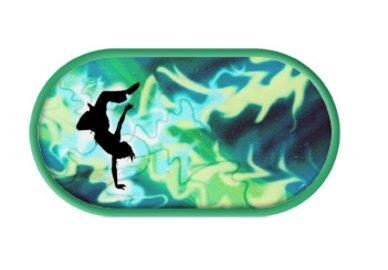 Púzdro so zrkadielkom Tanečný motív - Tmavo zelené