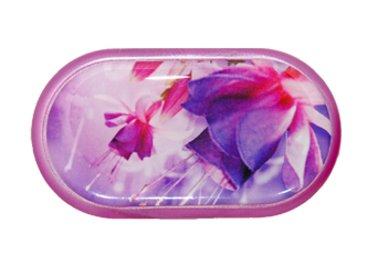 Púzdro so zrkadielkom motív kvety - Fuchsia