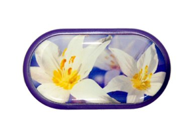 Púzdro so zrkadielkom motív kvety - Ocun