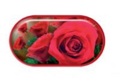 Púzdro so zrkadielkom motív kvety - Ruže