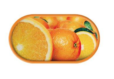 Púzdro so zrkadielkom motív Ovocie - Pomaranč