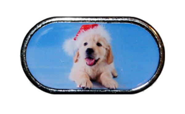 Púzdro so zrkadielkom Vianočný motív - Šteňa v kulichu