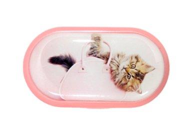Púzdro so zrkadielkom motív Mačky - Mačiatko v taške