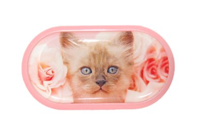 Púzdro so zrkadielkom motív Mačky - Mačiatko v ružiach