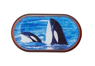 Púzdro so zrkadielkom Divoká zvieratá - Kosatky