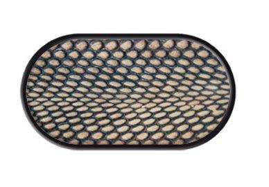 Púzdro so zrkadielkom motív Koža - Čierna Mamba