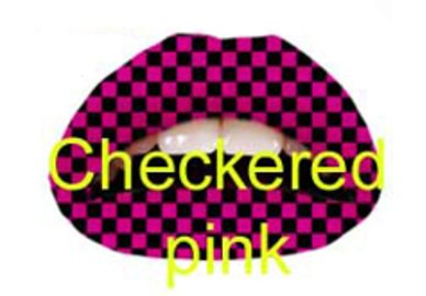 Samolepka na pery - Checkered Pink