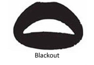 Samolepka na pery - Blackout