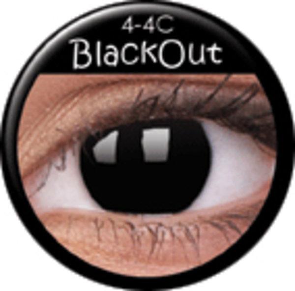 ColourVue Crazy šošovky - BlackOut (2 ks ročné) - nedioptrické - exp.12/2017