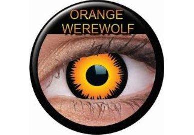 ColourVue Crazy šošovky - Orange Werewolf (2 ks ročné) - nedioptrické - exp-02/22