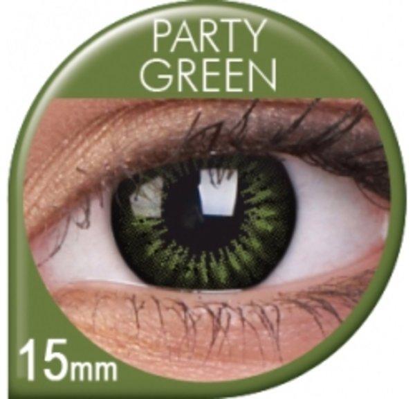 ColourVue Big Eyes - Party Green (2 šošovky trojmesačné) - dioptrické - exp08/2018