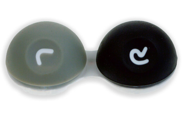 3D púzdro - pogumované sivo-čirne